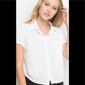 Brandy Melville Cropped Button-up